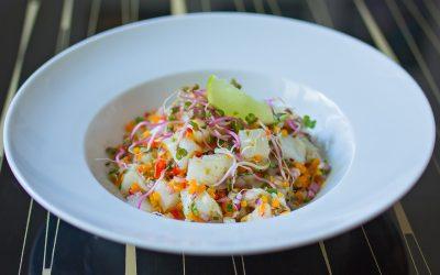 Salt cod ceviche