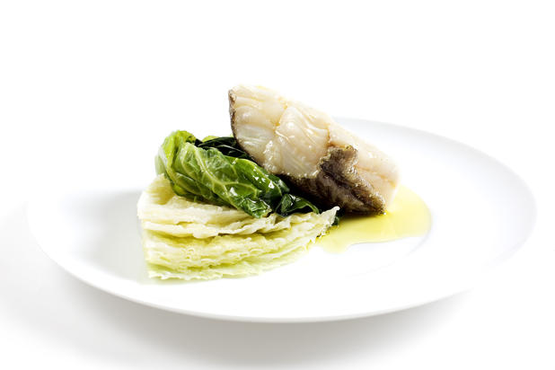 Bacalhau cozido com couves