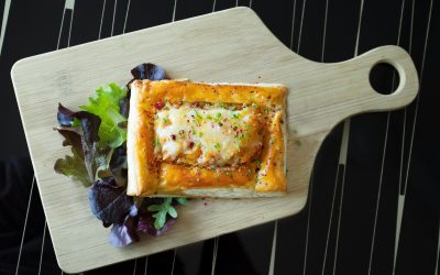 Salted cod puff pastry