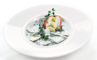 Sopa de Bacalhau com poejos